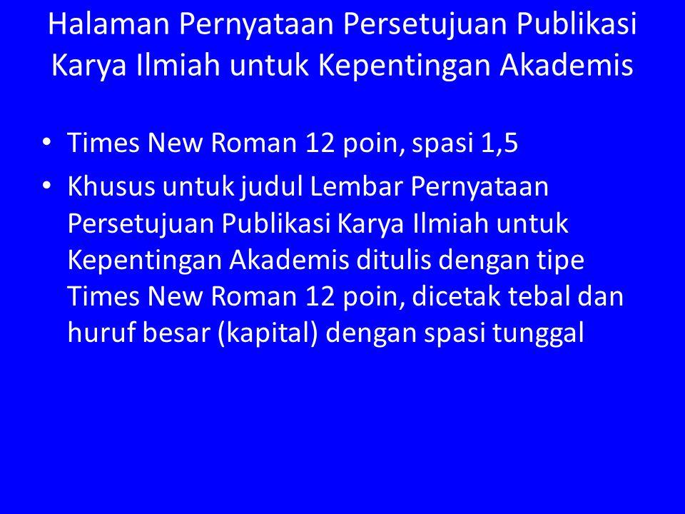 Halaman Pernyataan Persetujuan Publikasi Karya Ilmiah untuk Kepentingan Akademis