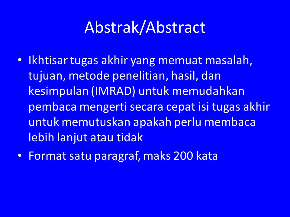 Abstrak/Abstract