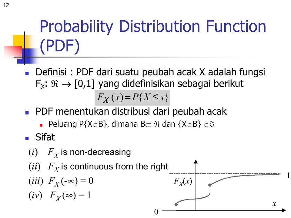 Probability Distribution Function (PDF)