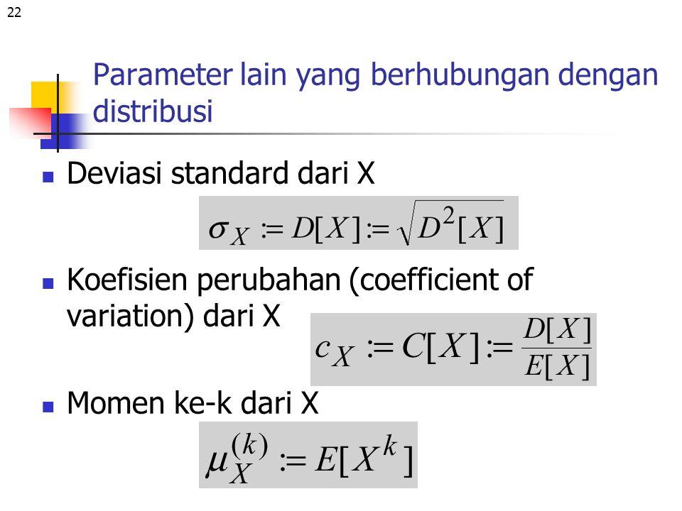 Parameter lain yang berhubungan dengan distribusi