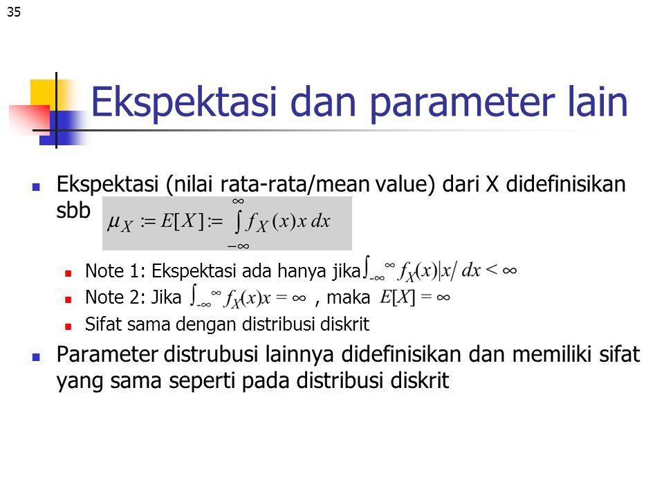 Ekspektasi dan parameter lain