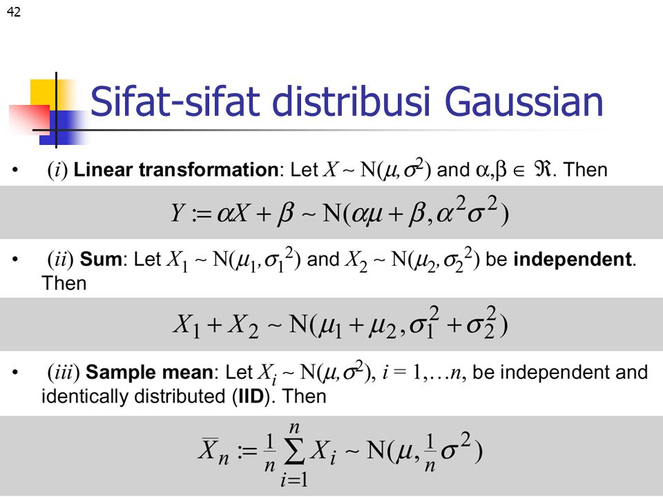 Sifat-sifat distribusi Gaussian
