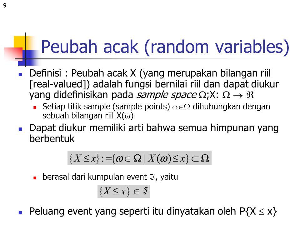 Peubah acak (random variables)