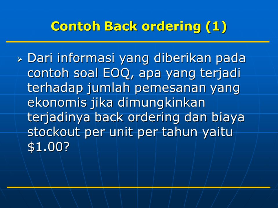 Contoh Back ordering (1)