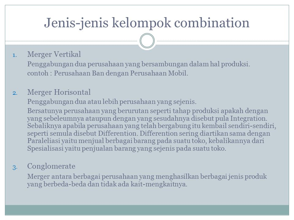 Jenis-jenis kelompok combination