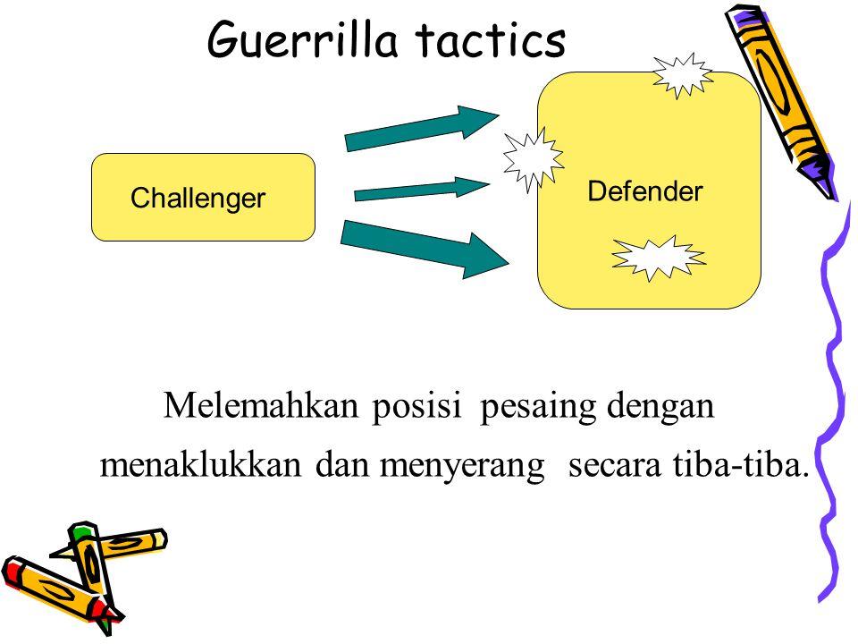 Guerrilla tactics Defender. Challenger.