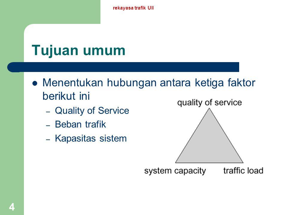 Tujuan umum Menentukan hubungan antara ketiga faktor berikut ini