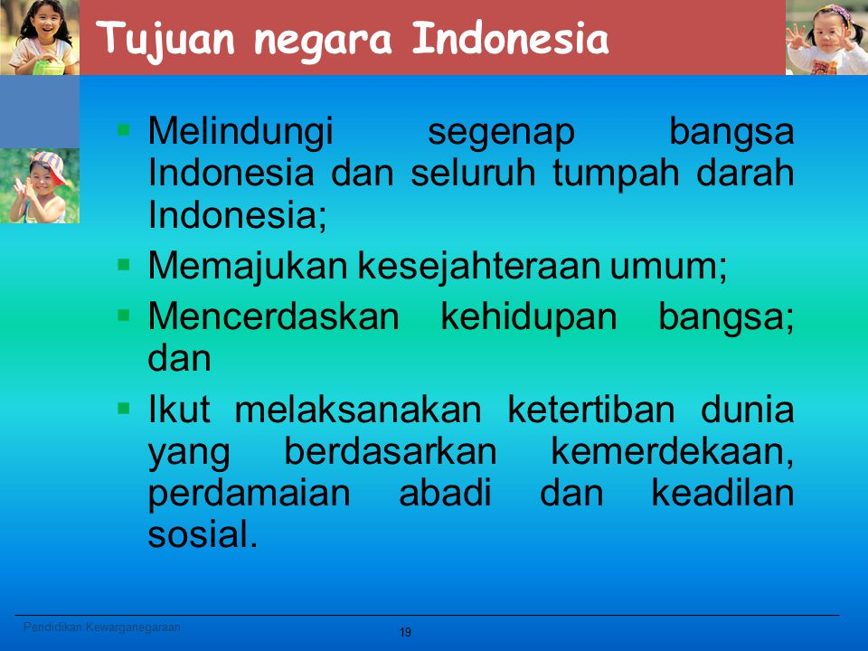 Tujuan negara Indonesia