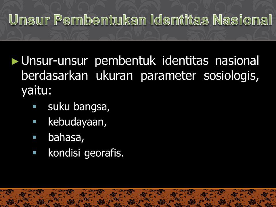 Unsur Pembentukan Identitas Nasional