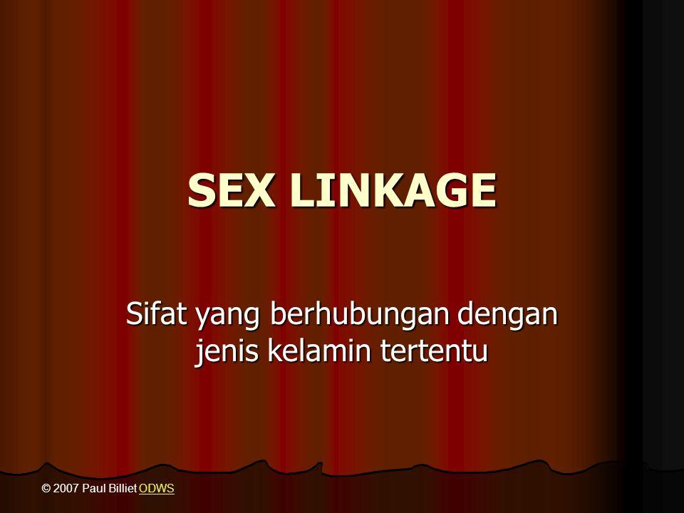 Sifat yang berhubungan dengan jenis kelamin tertentu