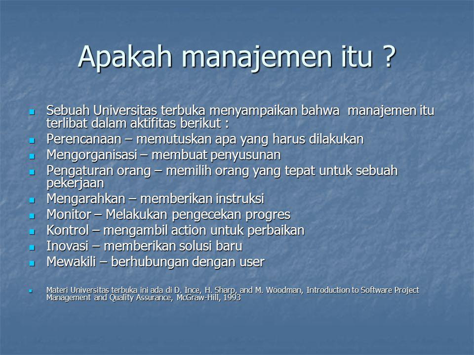 Apakah manajemen itu Sebuah Universitas terbuka menyampaikan bahwa manajemen itu terlibat dalam aktifitas berikut :