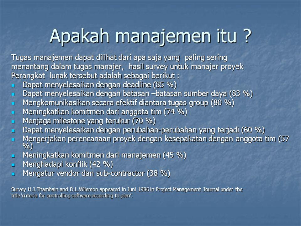 Apakah manajemen itu Tugas manajemen dapat dilihat dari apa saja yang paling sering.