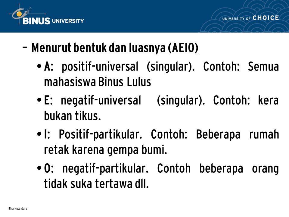 Menurut bentuk dan luasnya (AEIO)