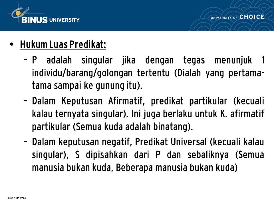 Hukum Luas Predikat: