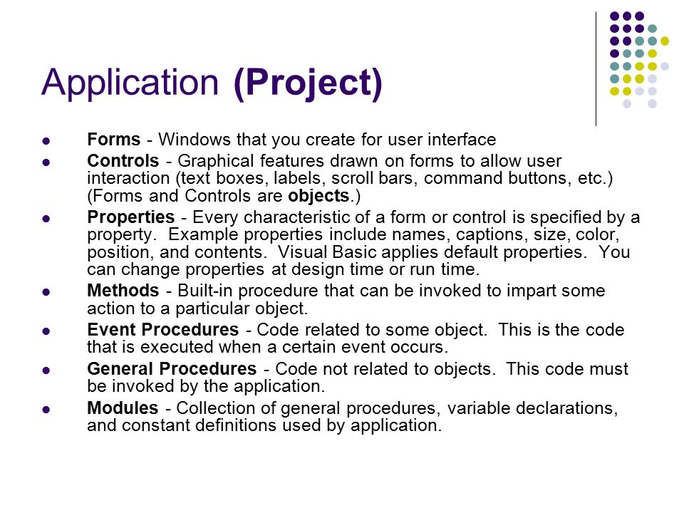 Application (Project)