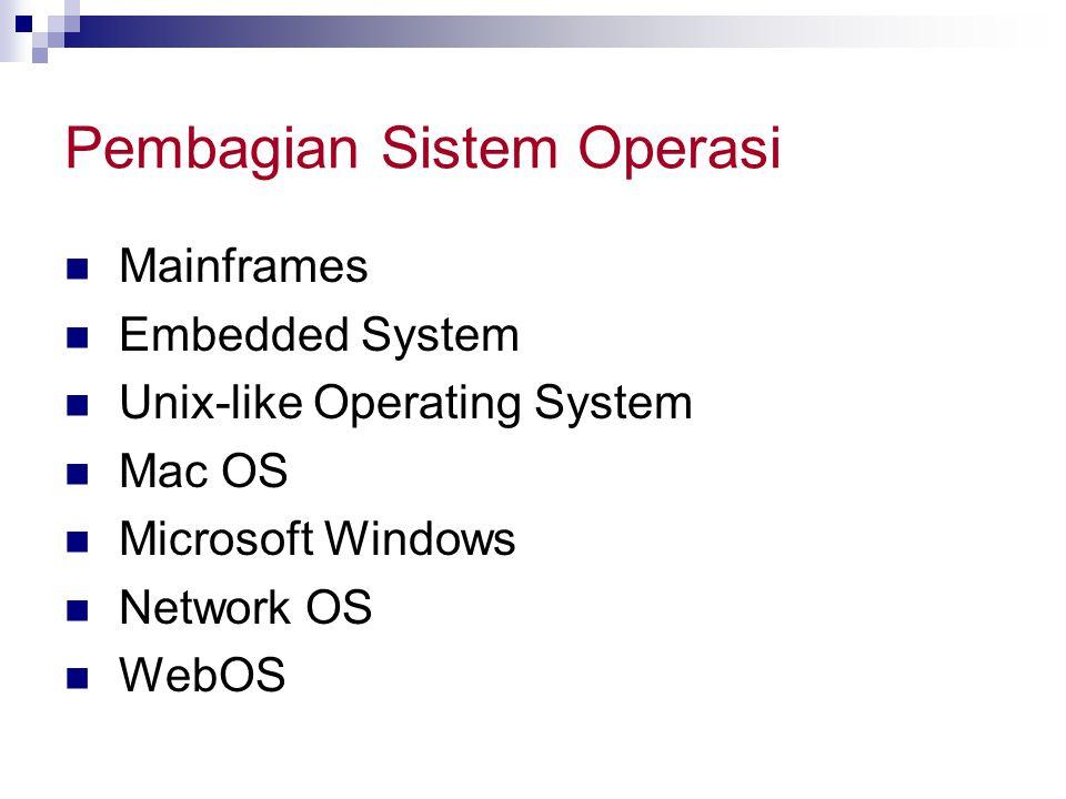 Pembagian Sistem Operasi