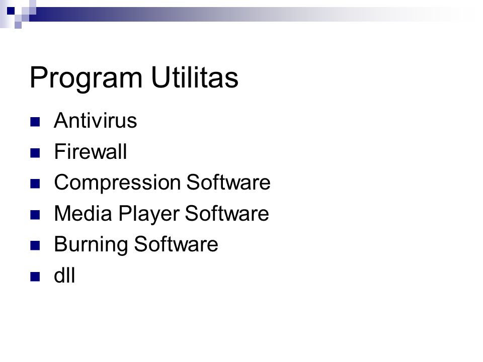 Program Utilitas Antivirus Firewall Compression Software