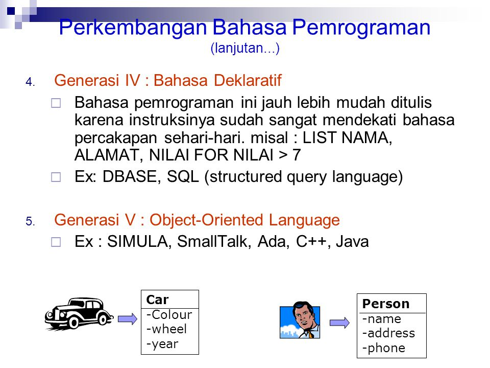 Perkembangan Bahasa Pemrograman (lanjutan...)