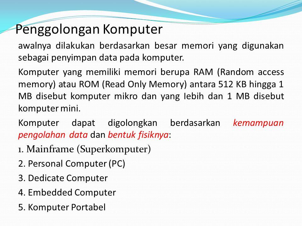 Penggolongan Komputer