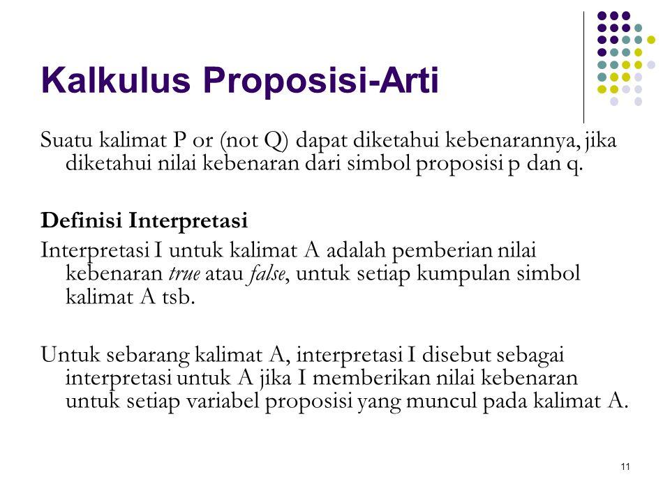 Kalkulus Proposisi-Arti