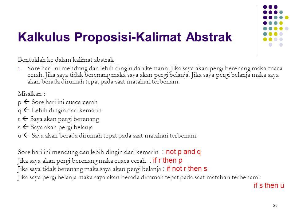 Kalkulus Proposisi-Kalimat Abstrak