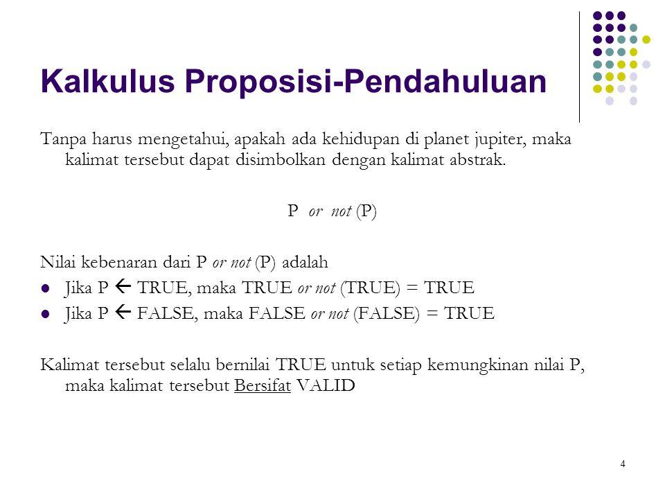 Kalkulus Proposisi-Pendahuluan