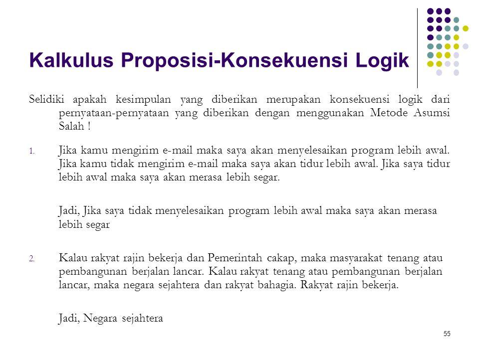 Kalkulus Proposisi-Konsekuensi Logik