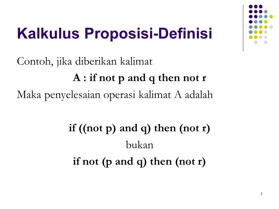 Kalkulus Proposisi-Definisi