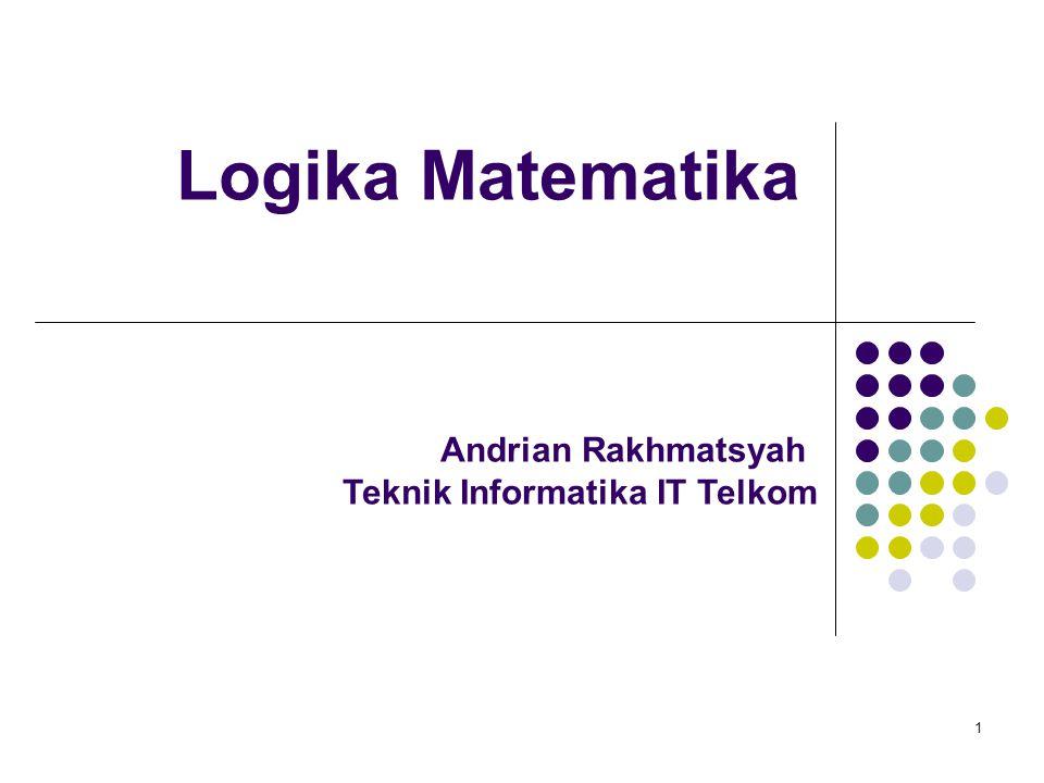 Logika Matematika Andrian Rakhmatsyah Teknik Informatika IT Telkom