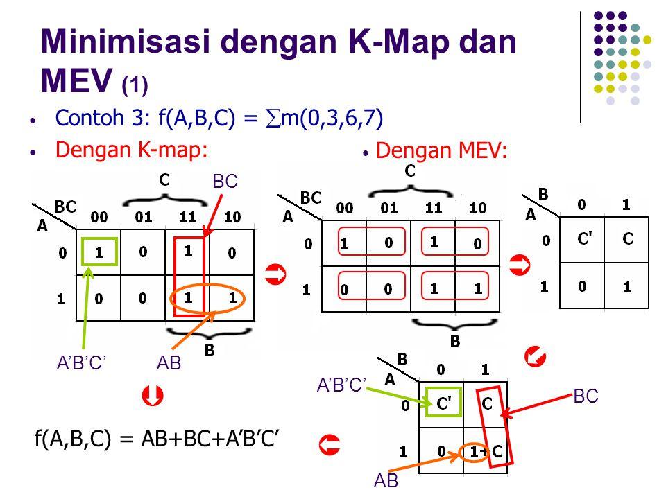 Minimisasi dengan K-Map dan MEV (1)