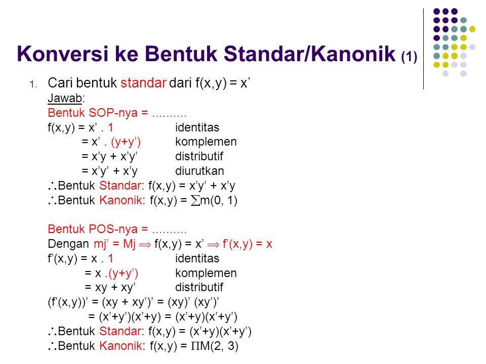 Konversi ke Bentuk Standar/Kanonik (1)