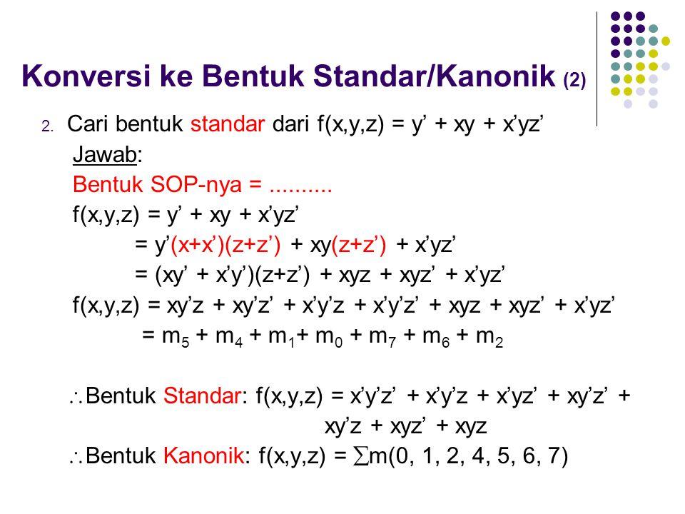 Konversi ke Bentuk Standar/Kanonik (2)