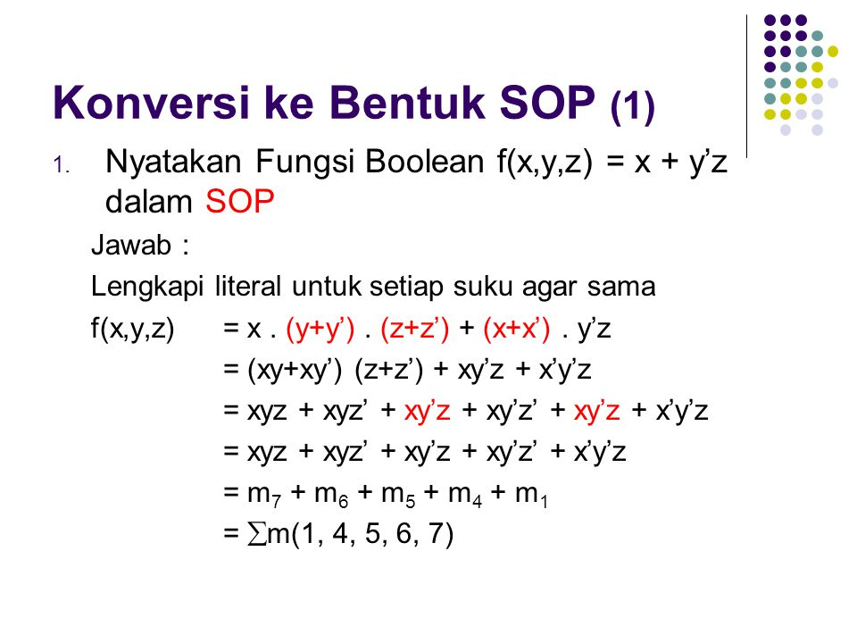 Konversi ke Bentuk SOP (1)