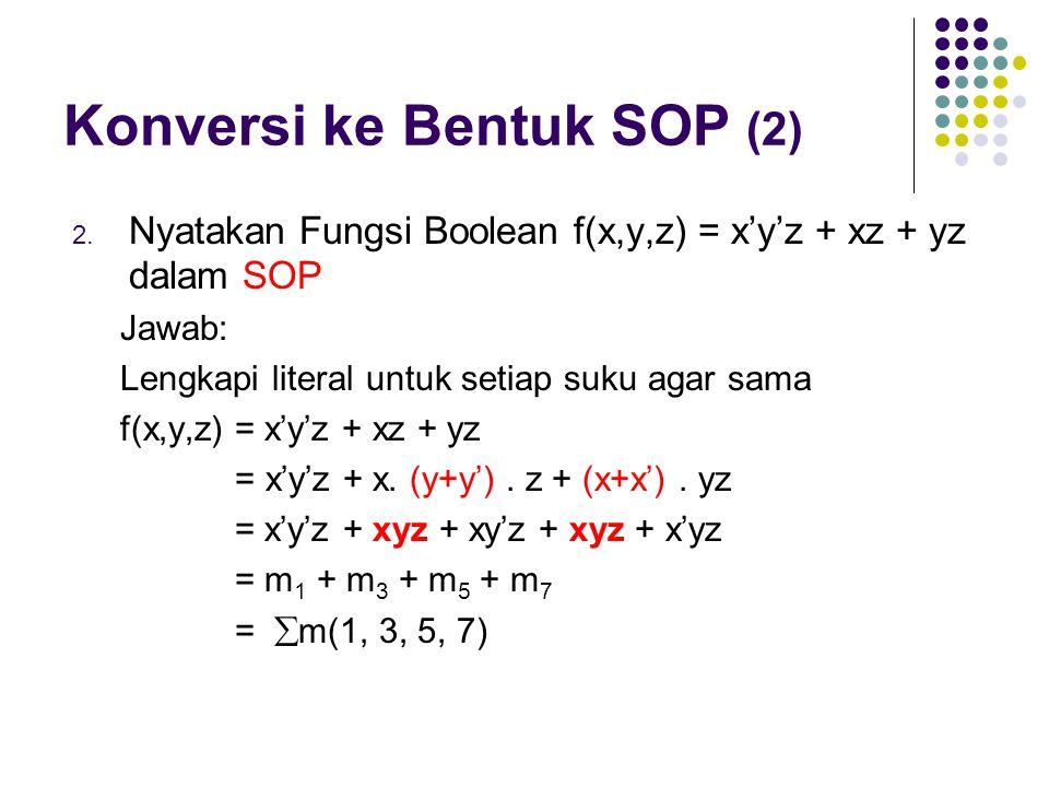 Konversi ke Bentuk SOP (2)