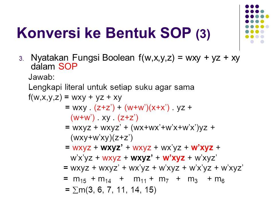 Konversi ke Bentuk SOP (3)