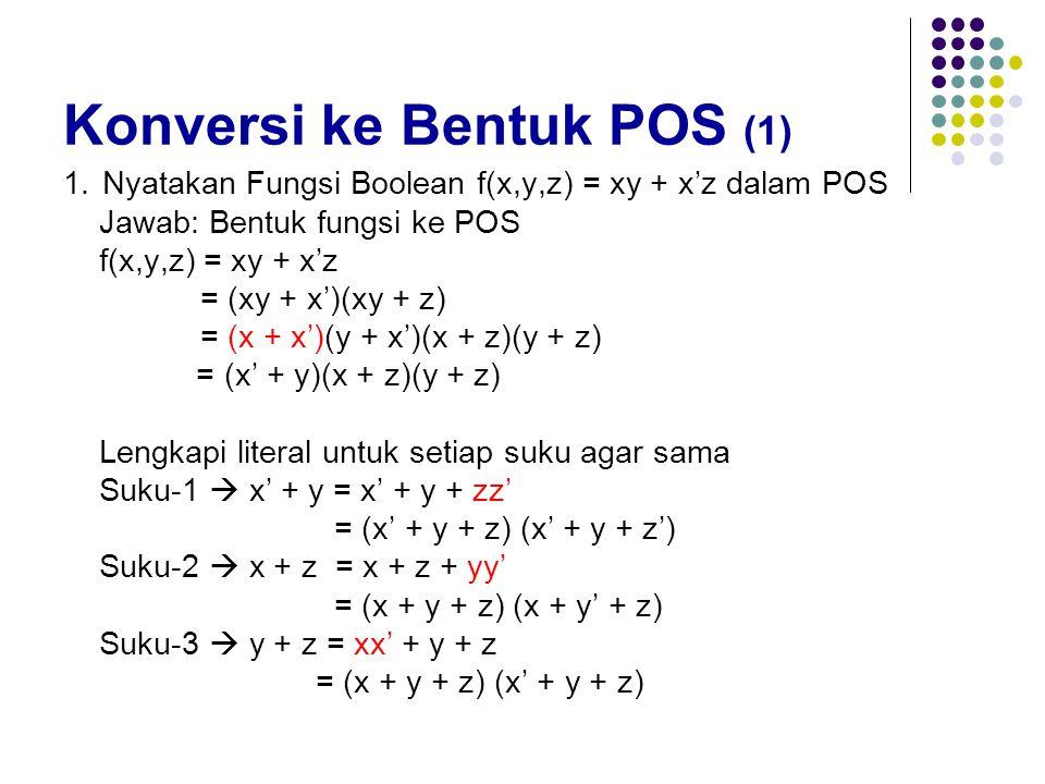 Konversi ke Bentuk POS (1)