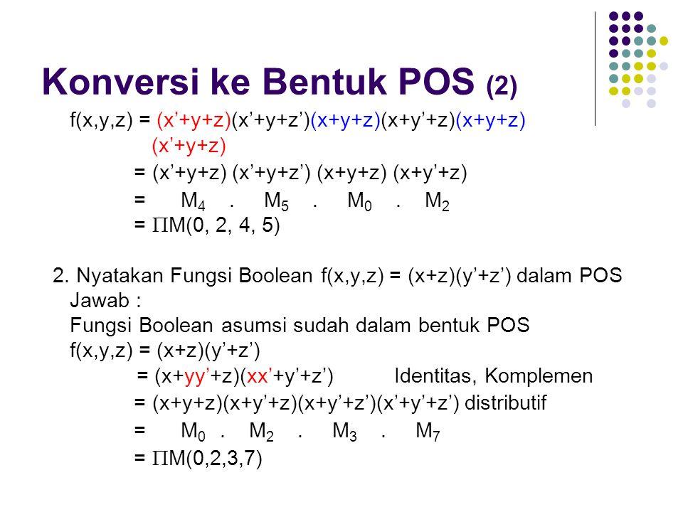 Konversi ke Bentuk POS (2)