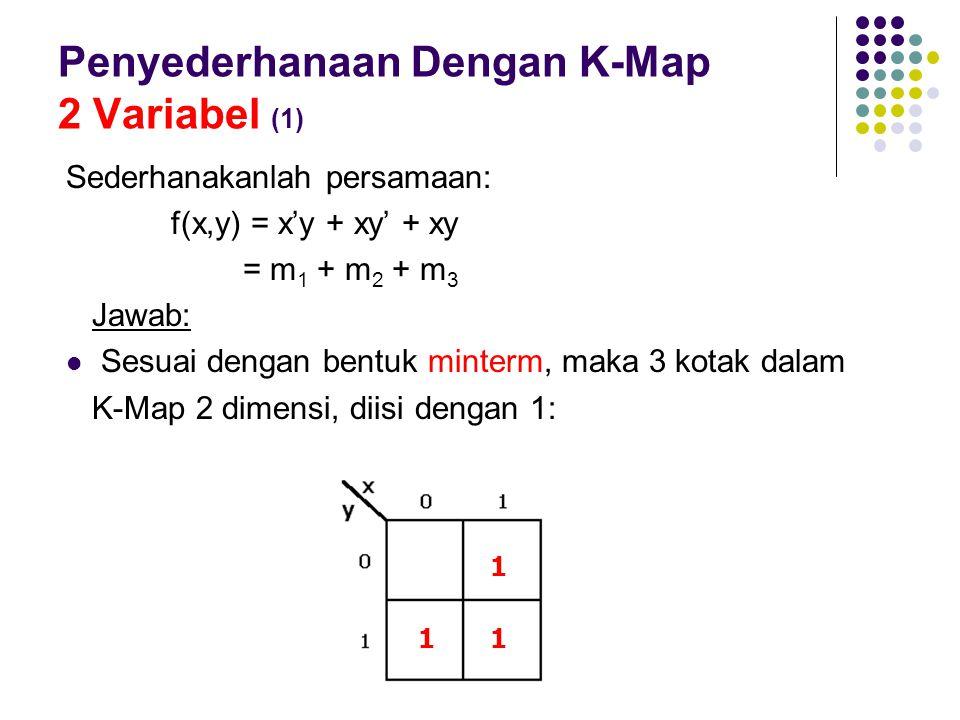Penyederhanaan Dengan K-Map 2 Variabel (1)