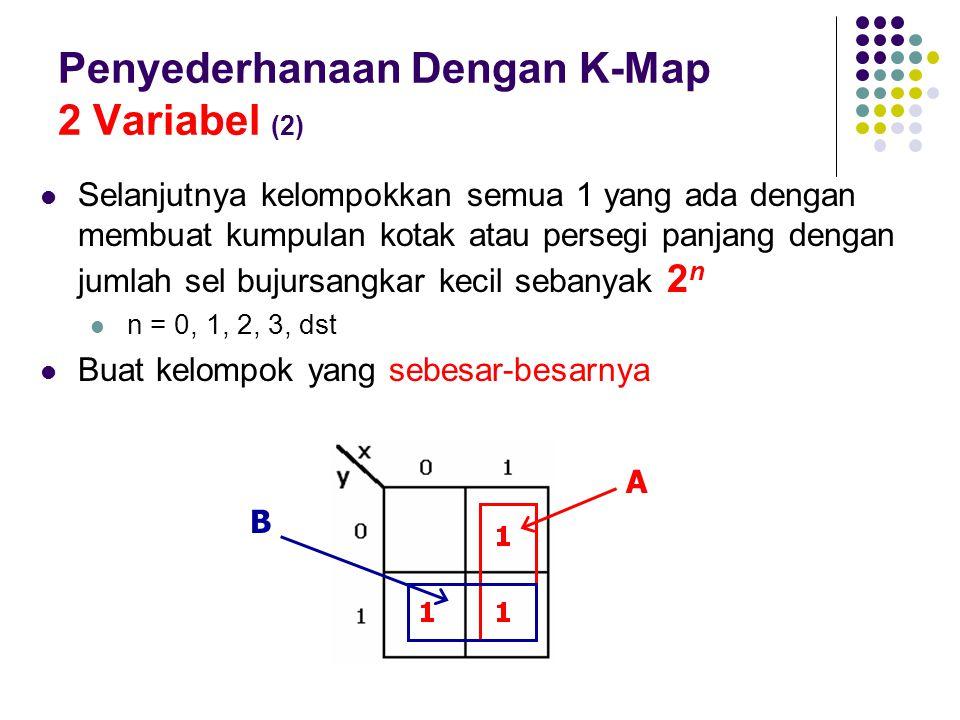 Penyederhanaan Dengan K-Map 2 Variabel (2)