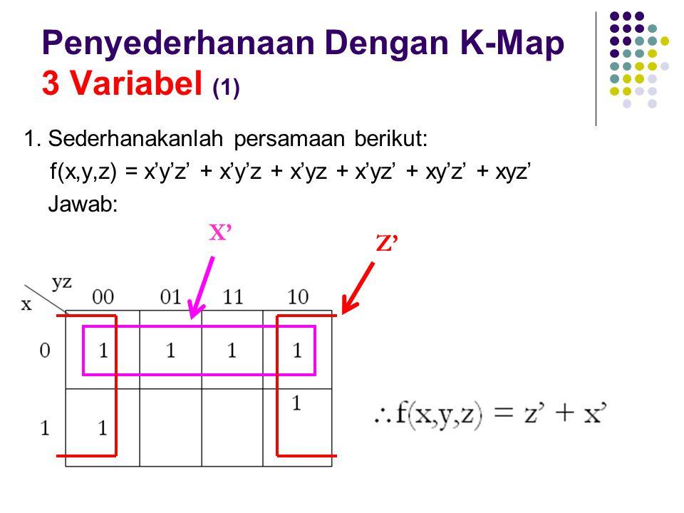 Penyederhanaan Dengan K-Map 3 Variabel (1)