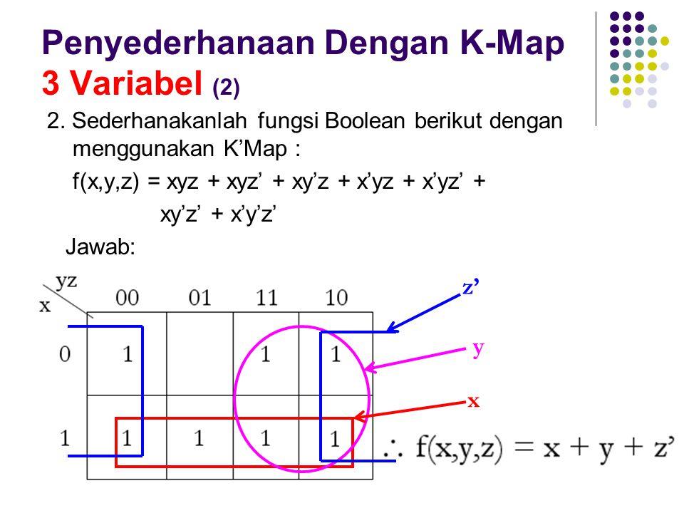 Penyederhanaan Dengan K-Map 3 Variabel (2)