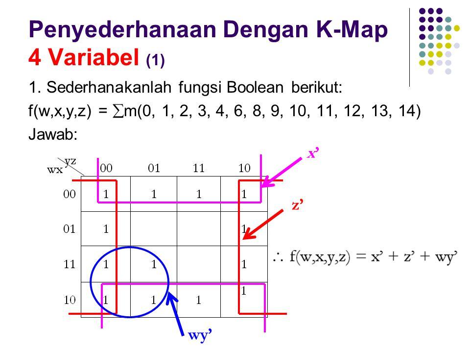 Penyederhanaan Dengan K-Map 4 Variabel (1)