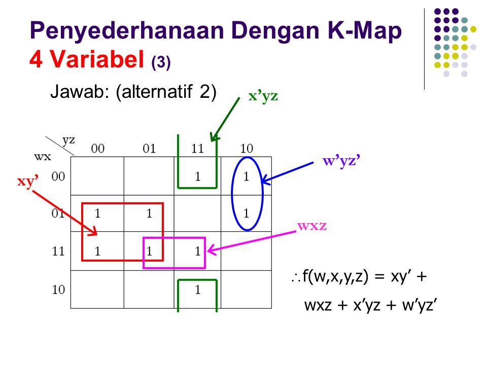 Penyederhanaan Dengan K-Map 4 Variabel (3)