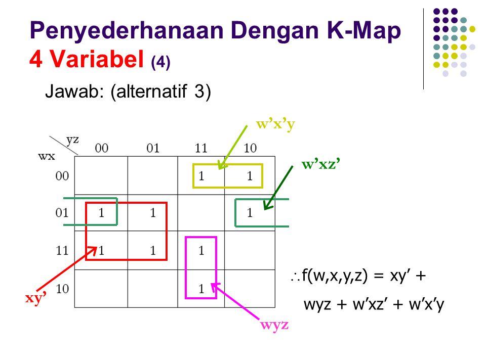 Penyederhanaan Dengan K-Map 4 Variabel (4)
