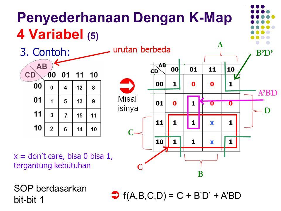 Penyederhanaan Dengan K-Map 4 Variabel (5)