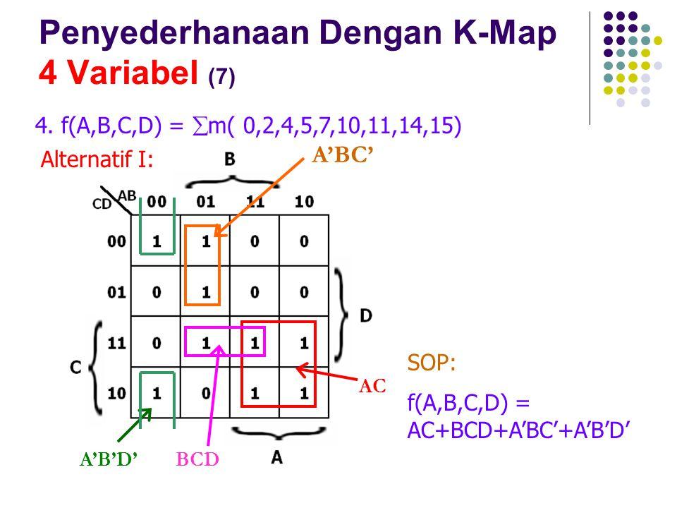 Penyederhanaan Dengan K-Map 4 Variabel (7)