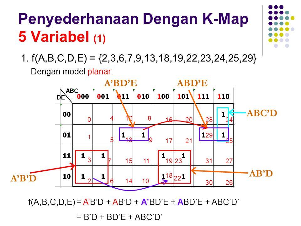 Penyederhanaan Dengan K-Map 5 Variabel (1)
