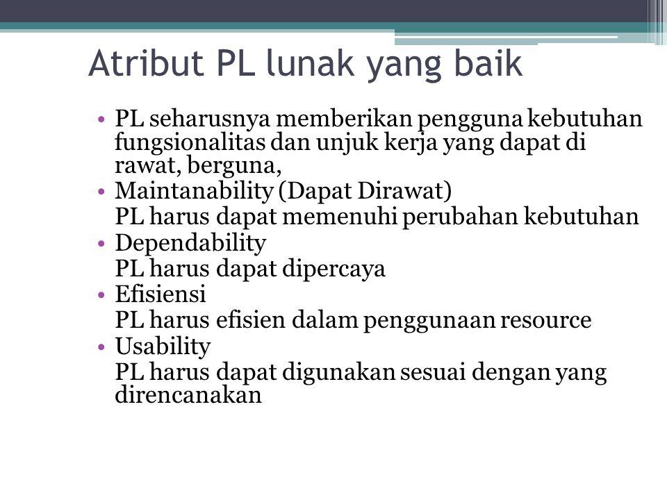 Atribut PL lunak yang baik