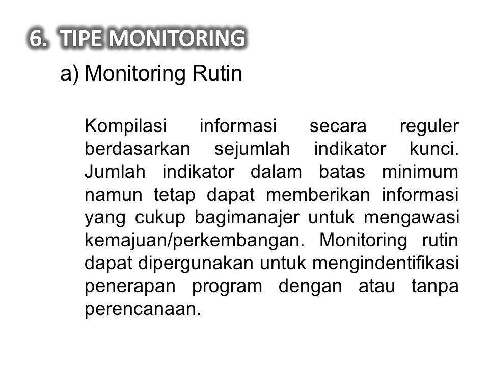 TIPE MONITORING Monitoring Rutin