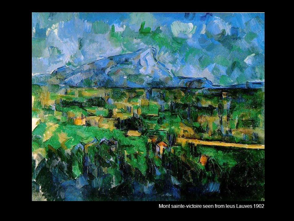 Mont sainte-victoire seen from leus Lauves 1902